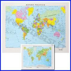 Carta geografica da banco mondo 21x29,7