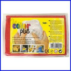 Pasta per modellare color plus rosso panetto 500gr