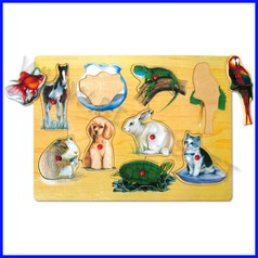 Puzzle legno animali domestici fino ad esaurimento