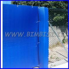 Protezione x esterni lastra cm 200x150x2 blu antigraffio