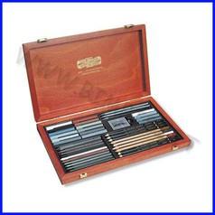 Set artisti gioconda - 39 accessori - cassetta legno