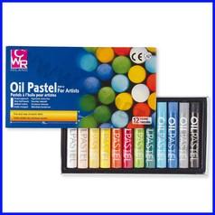 Pastelli a olio tondi 12 colori assortit