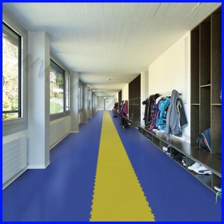 Pavimentazione in pvc spessore 7mm blu, rosso, verde, giallo
