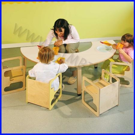 Tavolo In Legno Per Bambini Con Sedie.Bimbi Si Arredamento Tavoli E Sedie Per Bambini 106 07807