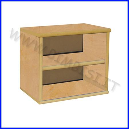 Pensile in legno cm.40x24x34h