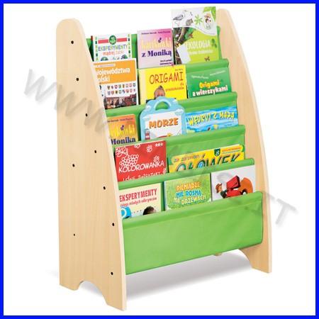 Libreria legno/stoffa cm. 72x38x111 h