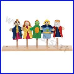 Burattini da dita - il principe ranocchio - conf.5 personaggi