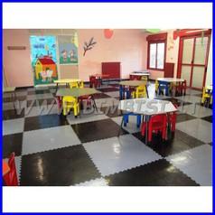 Pavimentazione modulare puzzle floor nero 11 pz = 1 mq