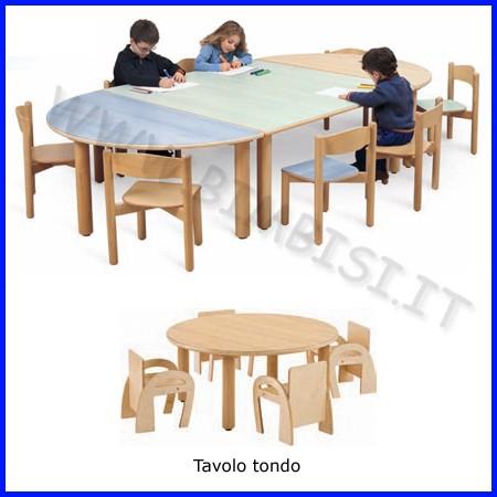 Tavolo circolare media/adulti 100x100x71