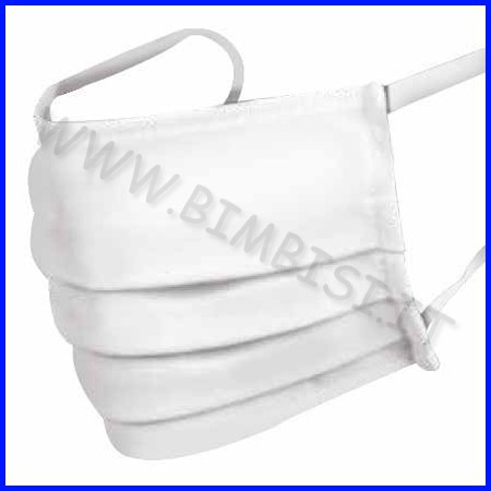 Mascherina adulto bianca cotone lavabile fino ad esaurimento