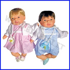 Bambole morbide gemelli - europa - m/f