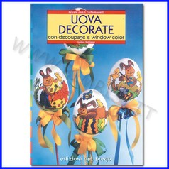 Uova decorate con decoupage e window col con cartamodello