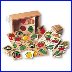 Tombola dei vegetali legno