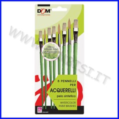 Pennelli per acquerelli set 8 assortiti