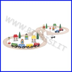 Treno-go - set circuito ferroviario la forma dell'otto