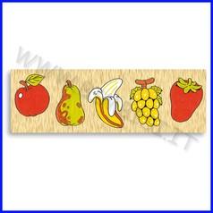 Puzzle legno seriazioni frutta fino ad esaurimento