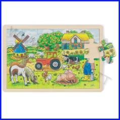 Puzzle legno/cartone cm.30x20 - la fattoria (24 pz.)