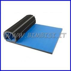 Materasso arrotolabile cm 200x100 sp 3.5 blu