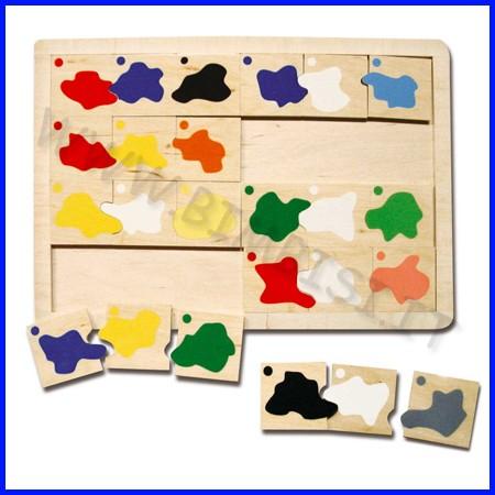 Domino dei colori in legno cm.23x33