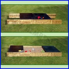 Sabbiera con piani scorrevoli vasca 2x2m