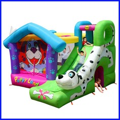 Castello gonfiabile happyhop cucciolandi dim.cm 350x340x245