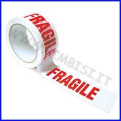 "Nastro adesivo x imballo ""fragile"" cm 5 x 66 mt"