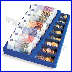 Euro portamonete/banconote + banconote e monete