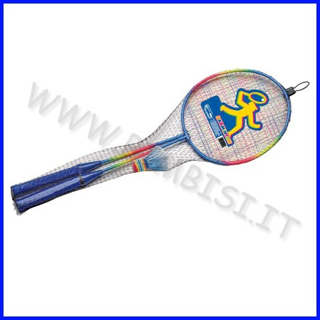 Racchette badminton rainbow set 2 pezzi