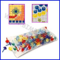 Mosaico creativo chiodini quadrati e triangolari conf.gr.500