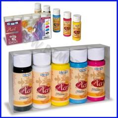 Colori acril milano 5 flaconi ml.60 colori primari fino ad esaurimento