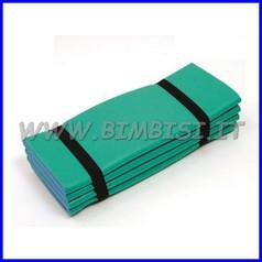 Tappetino 8 pieghe bicolore azz/verde 180x55x1.2 cm c/elastico