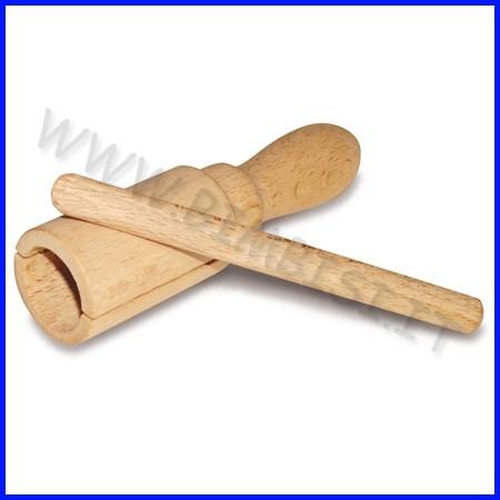 Strumenti musicali mini blocco tonale in legno + battente cm 3,5x13