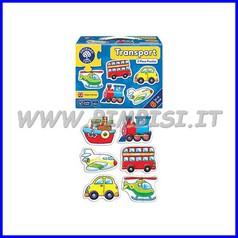 Puzzle mezzi di trasporto cm 14x14 set 6