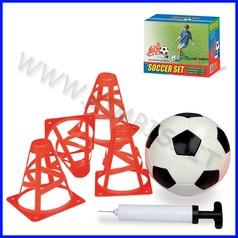 Calcio set: 4 coni, 1 palla, 1 pompa fino ad esaurimento