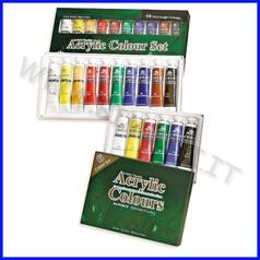Colori acrilici 10 tubi ml.22 colori ass