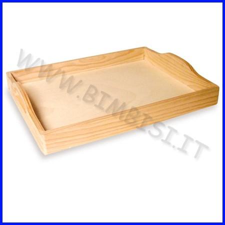 Supporti in legno: vassoio cm30x40 con manici