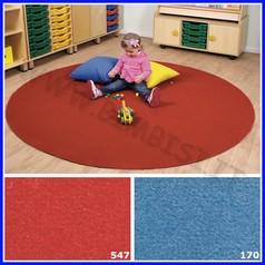 Nuvola - tappeto comfort tondo diam. cm.200 - rosso