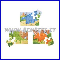 Puzzle legno mezzi di lavoro - set pz. 3