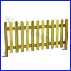 Steccato inglese doghe in pino piantone lamellare