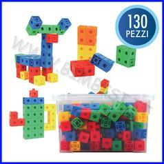Cubetti multi-incastri cm.2 - bauletto pezzi 130