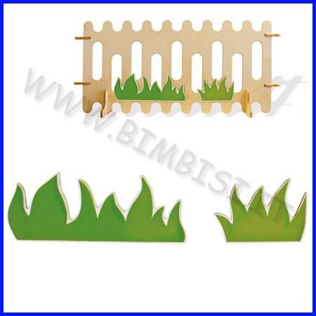 Decorazioni legno cespugli cm 74x20h