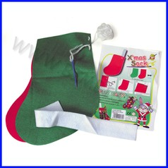 Set crea la calza natalizia