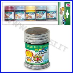Colori per ceramica 5 flaconi ml.35 colori primari