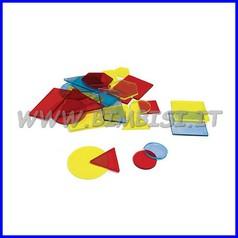 Figure geometriche trasparenti set pz 30