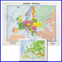 Carta geografica da banco europa 21x29.7