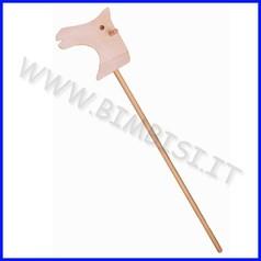 Cavallino cavalcabile legno cm.73