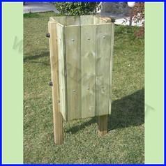 Cestino in legno capacita 32 lt