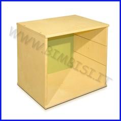 Mobile in legno cubo cm 40x40x30