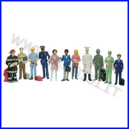 Personaggi amici del mondo - mestieri set 11 personaggi