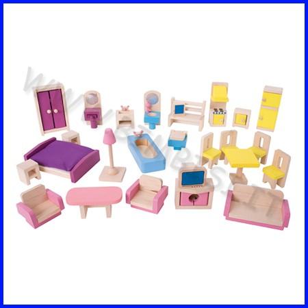 Casa delle bambole arredamento completo 26 pz
